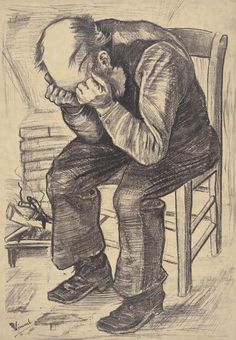 At the end of November 1882, Vincent van Gogh is working on a lithograph of an old man. He was quite eager to learn more about printing, as he writes in a letter to Theo: http://vangoghletters.org/vg/letters/let288/letter.html