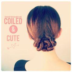 TBDcoiledandcute diy hairstyles, bun hairstyles, hair tutorials, long hair, low bun, lazy hair, hair looks, updo, hair buns