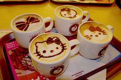 hello kitty hello kitti, latte art, coffeeart, food, drink, coffee art, kitti coffe, hellokitti, hello kitty