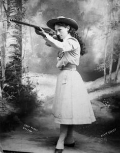 """""""I would like to see every woman know how to handle (firearms) as naturally as they know how to handle babies."""" - Annie Oakley"""