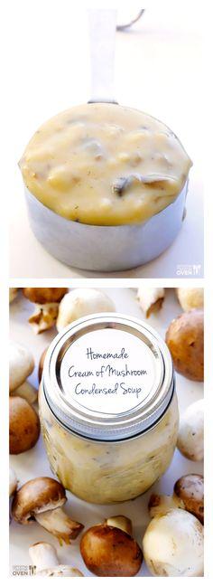 Condensed Cream of Mushroom Soup   gimmesomeoven.com