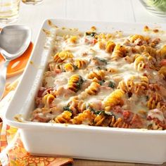 Sausage Spinach Pasta Bake Recipe, easy to swap other ingredients in and out.
