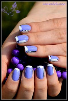 Lavender Nails - almost french tips