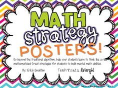 Addition and subtraction strategy posters... and not just regrouping!
