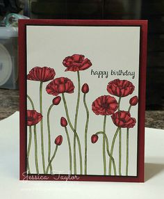 Pleasant Poppies Blendabilities Cards