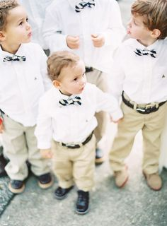 bow tied ring bearers