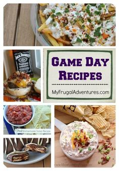 Game Day Recipe Ideas- tons of ideas for tailgating or watching the game at home!