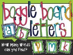 Increase your classroom literacy with these FREE Boggle board letters, poster, and 2 types of recording sheets!  Grades 2-5