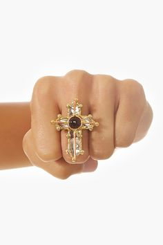 Metal Cross Ring