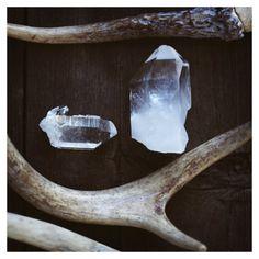 quartz and antlers