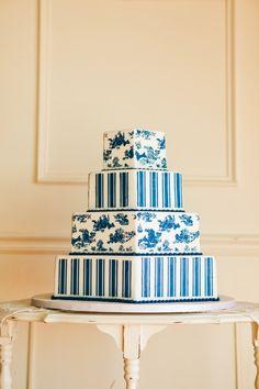 Torta de casamiento original en forma hexagonal