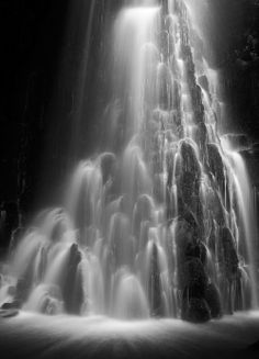 Black and white waterfall...