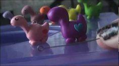 How to make a Polymer Clay DINO Love Charm., via YouTube.