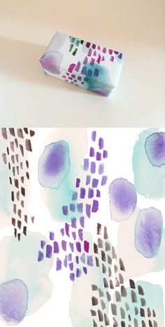 gift, pattern, watercolor paper, paper design, brush stroke