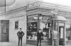 Bronx Saloon: c. 1908 (street sign reads Kingsbridge Road?) - Bronx, New York