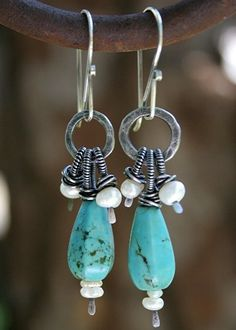 ❥ turquoise and pearls