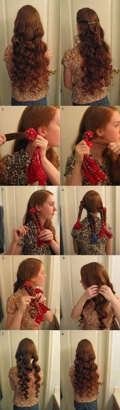No Heat Curls - by All Day Chic  --  http://alldaychic.com/no-heat-curls/