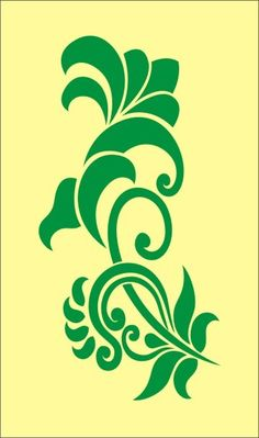 Stencil floral flourish 6 garden flower, image is approx. 3.5 x 7 inches for signs crafts wall linen burlap decoration stenciling