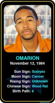 Celeb #Scorpio birthdays: Omarion's astrology info! Sign up here to see more: https://www.astroconnects.com/galleries/celeb-birthday-gallery/scorpio?start=120  #astrology #horoscope #zodiac #birthchart #natalchart #omarion #b2k