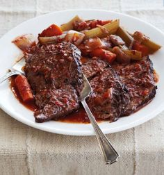 Savory Pot Roast -  This recipe elevates an inexpensive cut of meat to something worthy of a special meal. Browning beef first is essential to creating the rich flavor base, and now you can do it all in the same pot.