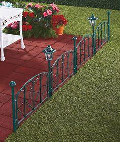 solar lighted garden fence