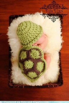 Baby knit turtle. Precious! Mary would look so cute in this!!!