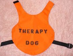 Therapy Dog Vests: Make Your Own