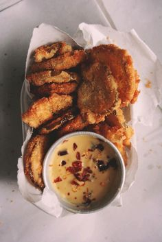 // fried pickles mustard sauce