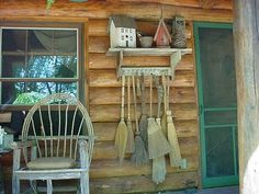 want a peg rack in my laundry room for handmade/old brooms like this