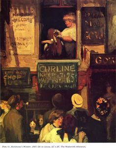 John Sloan (American, 1871-1951)   Hairdresser's Window. (1907)