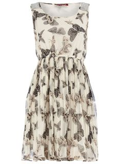 Dorothy Perkins  Grey butterfly dress