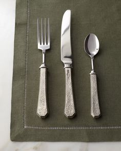 """Five-Piece """"Classic"""" Pewter Flatware Place Setting http://rstyle.me/n/d3f23q7cw"""