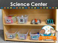 Science center ideas for your preschool, pre-k, or kindergarten classroom.
