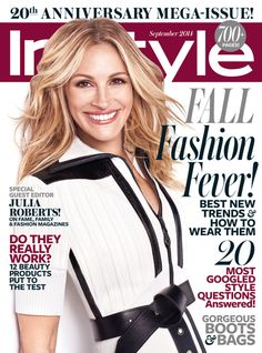 Julia Roberts in Louis Vuitton Fall 2014 for InStyle US September 2014