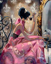 :: Trish Biddle Fine Art :: Powder Pink :: Glamorous Women in Fabulous Places :: Eva Longoria :: Kentucky Derby :: Westminster Dog Show :: Hamptons Classic :: Del Mar