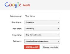 "Set up a Google Alert on your name and you'll be notified whenever your name is mentioned.     If you don't like what you see, you can ask for the content to be taken down.    If you share your name with someone else, knowing what's crossing the social web about them -- doesn't hurt either.    ""I'm the __________ who isn't appearing before the state Supreme Court on _______."""