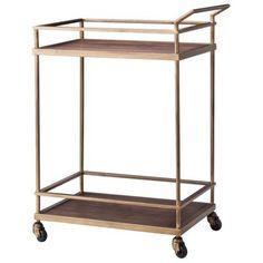 Threshold™ Wood and Brass Finish Bar Cart - LOVE IT!