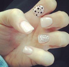 color, nail gir, nail arts, cute girly nails, polka dot nails