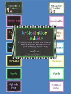 Free! Articulation Ladder - Visual Clip Chart for Articulation Students depicting isolation thru conversation.