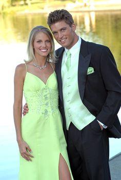 Tuxedo with spring green vest & tie!  www.tuxedojunction.com