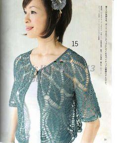 Free Japanese crochet pattern using chart