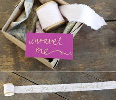 Will you be my bridesmaid? >> Creative ways to propose to your bridesmaids
