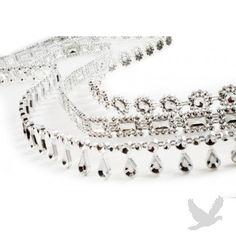 Decorative Trim - Rhinestone Trim - Metallic Crystal Trim