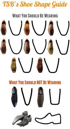 Men's Essentials: Shoe Shape Guide. ---> FOLLOW US ON PINTEREST for Style Tips, our current SALES, men's Wardrobe essentials etc... ~ VujuWear