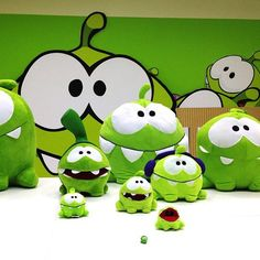 Om Nom is hanging out with his stunt doubles at the office… catching candy is dangerous work, you know! How many Om Nom's can you count in this picture? #cuttherope #omnom #cute #green #little #monster #love #yummy #candy #sweets #playing #play #mobile #game #games #phone #fun #happy #funny #face #eyes #smile #nice #aww #love #iphone #ipad #android #app