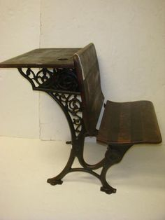 Antique School Desk~Love, these were in my old high school, dated 1923, torn down in 1990's