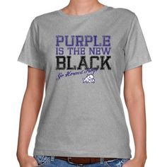 TCU Horned Frogs Ladies Purple is the New Black T-shirt