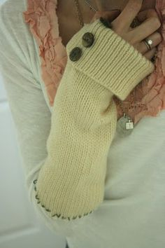 old sweater to sloves