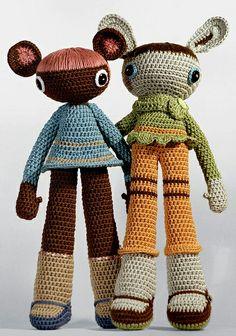 sepia amigurumi by Melissa Stanley.