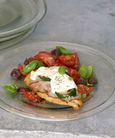 Chicken, Ham, and Mozzarella Stacks With Marinated Tomatoes Recipe#Repin By:Pinterest++ for iPad#